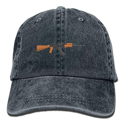 VTXWL Vintage Denim Cap Hat Kalashnikov AK-47 Six-Panel Adjustable Sports Trucker Baseball Hat for Adults Unisex