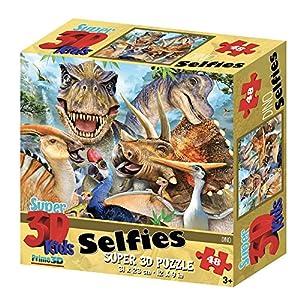 Howard Robinson, Dino Selfie - Puzle (Efecto 3D, 48 Piezas)