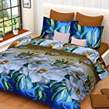 #10: Fashion Hub Grace Cotton King Size Double Bedsheet, 1 Bedsheet And 2 Pillow Covers