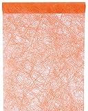 Santex Tischläufer Faseroptik orange, 30cm x 5m