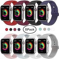 VIKATech Compatible Cinturino per Apple Watch Cinturino 44mm 42mm 40mm 38mm, Cinturino Morbido di Ricambio in Silicone...