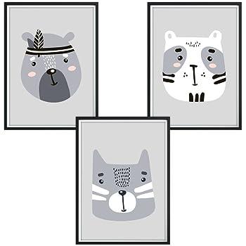 3er set dina4 poster f r kinderzimmer kinderposter druck. Black Bedroom Furniture Sets. Home Design Ideas