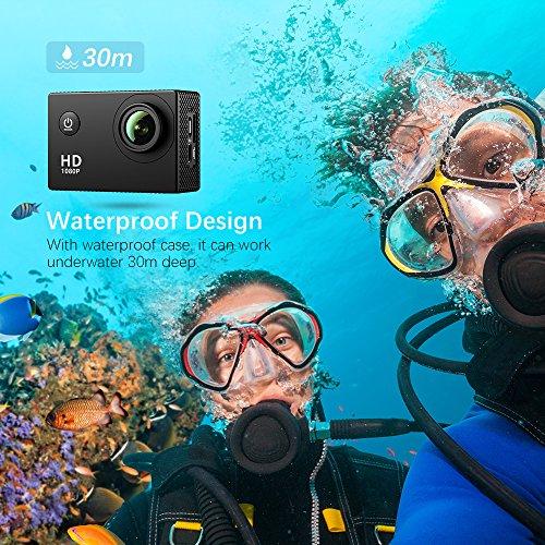 , VicTsing 2,0 Zoll HD 1080P Helmkamera - 3