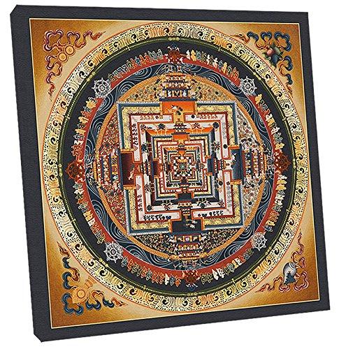 Thangka Kalachakra Mandala Leinwandbild Reproduktion 40x40 cm