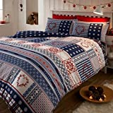 Best Duvet Covers - BRUSHED COTTON FLANNELETTE THERMAL DOUBLE DUVET COVER SET Review