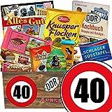 Geschenk 40. Geburtstag | DDR Schoko Geschenkbox | 40 Geburtstag Geschenke Mann