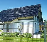 20 m Einstabmattenzaun, Höhe 75 cm, RAL 6005, komplett mit Pfosten - Gartenzaun Metallzaun Zaun Zaunanlage