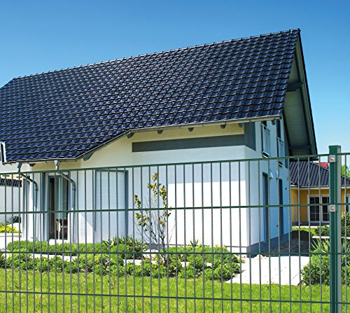 Koll Living 50 m Einstabmattenzaun, Höhe 50 cm, RAL 6005, Gartenzaun Metallzaun Zaun Zaunanlage