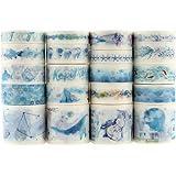 Lest 20 rollen Washi Tape-set, decoratieve plakband, collectie voor knutselaars, verfraait dagboeken, planners, kaarten en sc