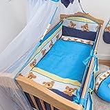 5-teiliges Baby Bettwäsche Set 140x70cm 4-seitig Kinderbett Schutz - Muster 9