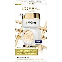 L'Oréal Paris Straffendes Gesichtspflegeset für reife Haut mit Anti-Aging Tagespflege und Nachtpflege gegen…