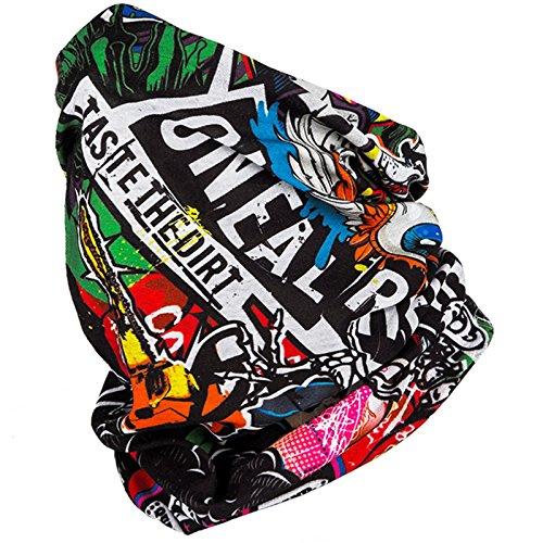 O\'Neal Hals Tuch Motorrad Nacken Wärmer Schutz Fahrrad Schal Gesichtsschutz Maske Ski, 1024, Farbe Crank Multi