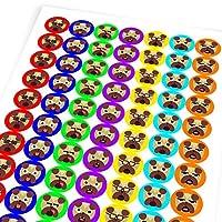 Chunky Hamster Adorable Pug Emojis, Reward Sticker Labels, Children, Parents, Teachers