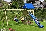 Spielanlage Lucia (LxBxH): ca. 410 x 190 x 296 cm inkl. Sandkasten Spielturm mit Schaukelanbau Kinderspielhaus ohne Rutsche von Gartenwelt Riegelsberger