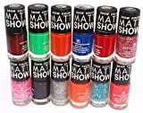 #3: Snow Color Matt Show - Nail Polish Set of 12 Pcs. (Multicolor Set No.56)