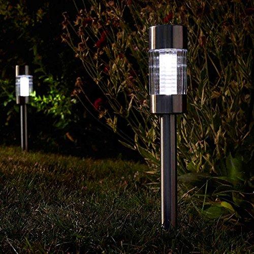 Balises Solaire Torche : Verre/acier, H.40cm