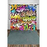 Coloc Photo® 150*220cm rue graffiti photographie toile de fond le tissu de l'art nouveau - né photographie toile de fond belle fond D-7975