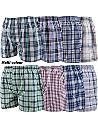 Various Mens Woven Boxer Shorts Cotton Rich Underwear S M L XL XXL Sizes