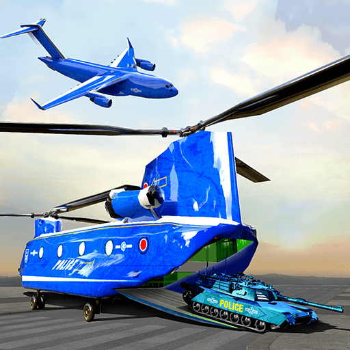 US-Polizeiauto-Flugzeug-Transporter-Flugzeug-Fliegen-Spiel 2018