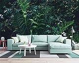 BZDHWWH Qualität 3D Tapete Fantasie Grünen Regen Wald Dschungel Wohnzimmer TV Sofa Hintergrund Wand 3D Tapete Behang,240cm (H) x 360cm (W)