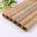 #5: Satyam kraft (Pack of 10,RANDOM) Vintage Newspaper Bouquet Gift Wrapping Paper, Envelope Making,Card Making, Scrapbooking and Multipurpose Creative Uses for BIRTHDAY, ANNIVERSARY, WEDDING, CHRISTMAS, FRIENDSHIP DAY, VALENTINE DAY, MOTHER'S DAY, RAKSHABANDHAN, SISTER AND YOUR LOVED ONES WITH FREE 10 GIFT CARDS(Mix Design)