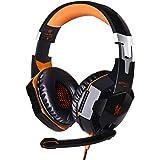 EACH G2000 Über OhrGamingKopfhörer Headset Ohrhörer Stirnband mit Mikrofon Stereo Bass LED Lampe für PC Spiel
