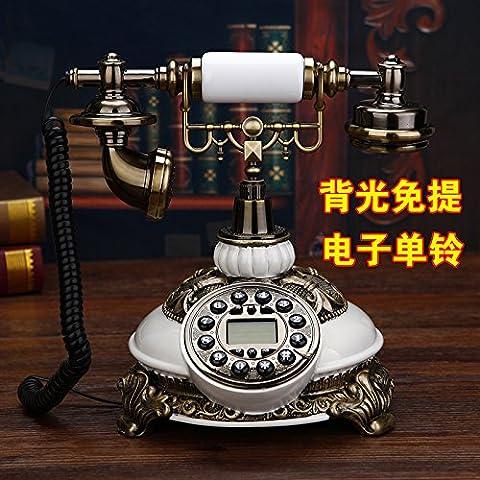 motesuvar Hochwertigen Jade Antik Telefon, im europäischen Stil Retro-Set, Old Style Villa, Home Feste Telefon