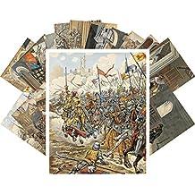 Tarjeta Postale Set 24pcs Louis XI Jacques Marie Gaston Onfroy de Breville Vintage Medieval Painting Art