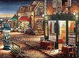Innenstadt von Sternenhimmel am Abend Kreuzstich