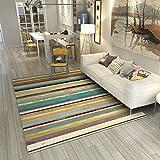 Mjb Einfacher Abstrakter Kunstteppich Wohnzimmerteppich, warm, gestreift, 120 x 160 cm, 140 * 200cm-a
