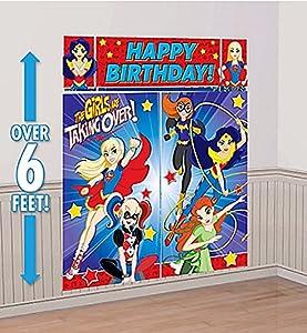 Amscan International-670535DC Super Hero escena de las niñas