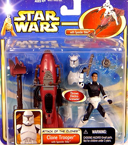 Clone Trooper with Speeder Bike inkl. Missile Launcher - Army of the Republic - Star Wars Saga Clone Wars Collection 2003 von Hasbro (Star Wars Clone Trooper Rüstung)