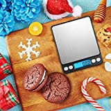 Brifit Digital Pocket Scales, (500g/ 0.01g) High-precision Kitchen Scales, Jewelry Scales, Multifunctional Scales with Back-Lit LCD Display, Tare and PCS Features, Batteries Included (Black)