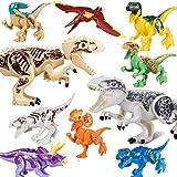 QILICZ 10pcs set Grande tirannosauro piccoli giocattoli dinosauro, articolazioni sono mobili, dinosauri di plastica del mondo giocattoli di plastica per bambini decorazione