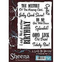 Sheena Douglass un po'Sketchy-Timbro formato A5, Say I