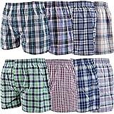 Sunshine Comforts 12 Pairs Men Boxer Shorts Designer Black Fashion100% Cotton Rich Band Underwear Seamless Boxers Trunks Wove