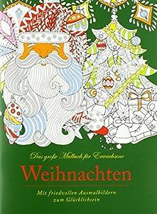 Idena 68143-Libro para Colorear para Adultos, diseño navideño, 64páginas
