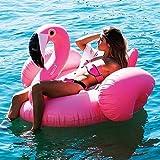 Kenmont Riesiger aufblasbarer Einhorn Pool Floß Inflatable schwebebett Unicorn Luftmatratzen Schwimmer Spielzeug Geschenke für Erwachsene Kinder (Pink Flamingo)