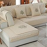 SAFAJINHH Sofaüberwurf,Stickerei Cotton Sofabezug Four Seasons General Simple Moderne Sofakissen Stoff Sofaüberwurf-L 70x150cm(28x59inch)