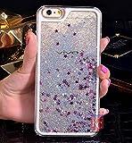 KC Liquid Flowing 3D Bling Glitter Star Case Transparent Soft Back Cover for Vivo V5 Plus - Silver