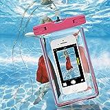 Dulaxie - Glühen im Dunkeln leuchtende Wasser Wasserdichte Tasche für iPhone7 7plus für Samsung S8 S7 Huawei P10 P9 xiaomi 6 Vivo R9S [Rosa]