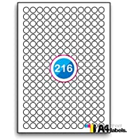 Identification Or Multi Purpose Heavy Duty Silver Round Cornered Label - 48 Labels Per Sheet - 500 Sheets 45.7mm x 21.2mm