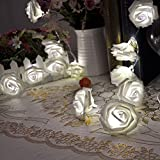 Rose Flower Fairy String Lights 20LED Wedding Garden Party Christmas Decoration Bild 1