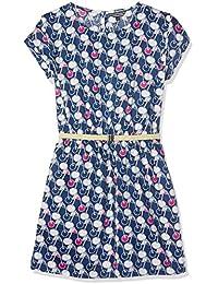 Tommy Hilfiger Mädchen Kleid Printed Ctn Sateen Dress S/S
