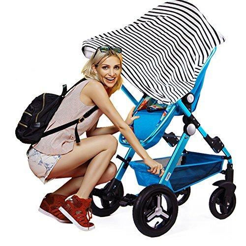 Stilltuch Stillschal für diskretes Stillen Ihres Babys unterwegs Baby Autositz Cover, Ideales Geburtstagsgeschenk für Baby und Mama von YOOFOSS (Schwarz-Weiß Streifen)