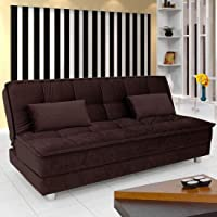 Furny Gaiety Supersoft 3 Seater Sofa Cum Bed (Brown)