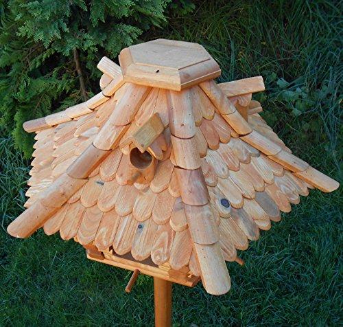 Großes Vogelhaus Futterhaus Vogelhäuschen –Wetterschutz– K22 B - 3