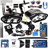 Kuman SM5-1 Wireless Wifi manipulator Robot Car Kit per Arduino, con rilevatori di ostacoli intelligenti a ultrasuoni e infrarossi HD Fotocamera Ds Robot Smart EducativoKits per IOS Android PC controlled