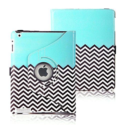 Elv Apple iPad 2 3 4 360 Rotating Lightweight Flip Case Cover