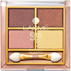 Lakme 9 to 5 Eye Color Quartet Eye Shadow, Desert Rose, 7g